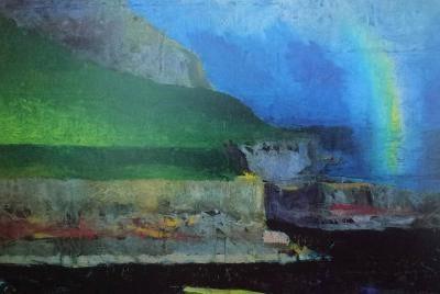 Abstrakt billede illustrerer foredrag med Anne Lie Stokbro om færøsk kunst