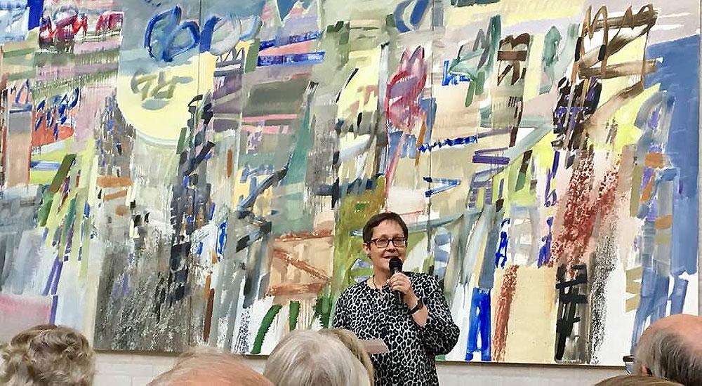 Gitte Petersen byder velkommer til fernisering på Bárður Jákupsson udstilling på Himmerlands Kunstmuseum
