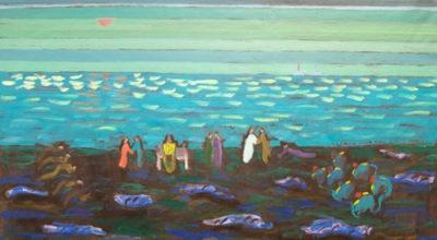 """Maleri af Odd Sivertsen fra udstillingen """"Skyggespil - det polare landskab"""" på Himmerlands Kunstmuseum"""
