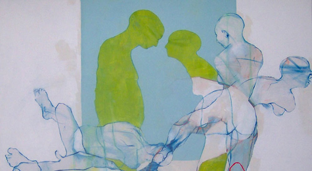 """Billede fra udstillingen """"Efteruddannelse"""" med Peter Max-Jakobsen på Himmerlands Kunstmuseum"""