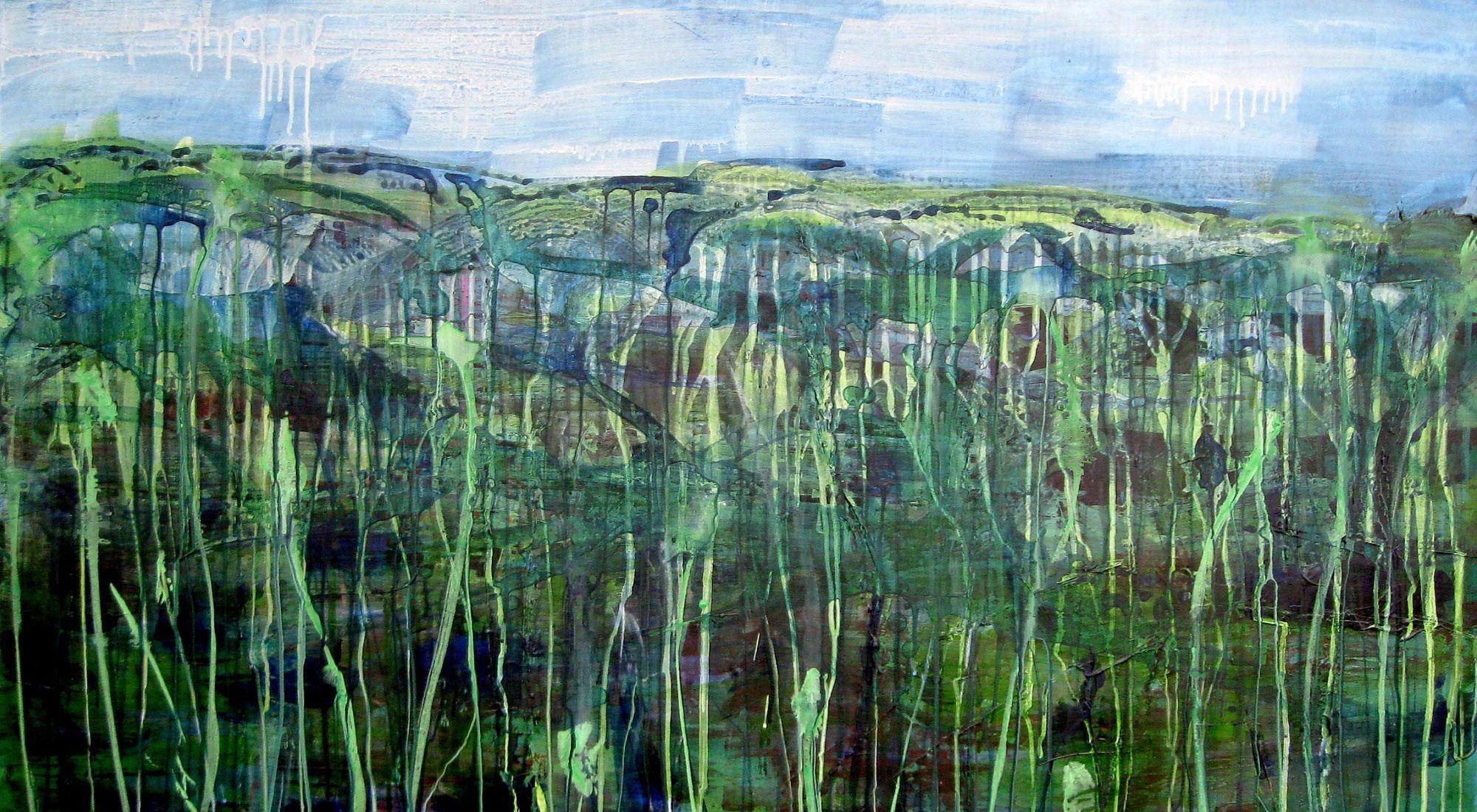 """Maleri fra udstillingen """"Det indre landskab"""" med Tina Tramp på Himmerlands Kunstmuseum"""