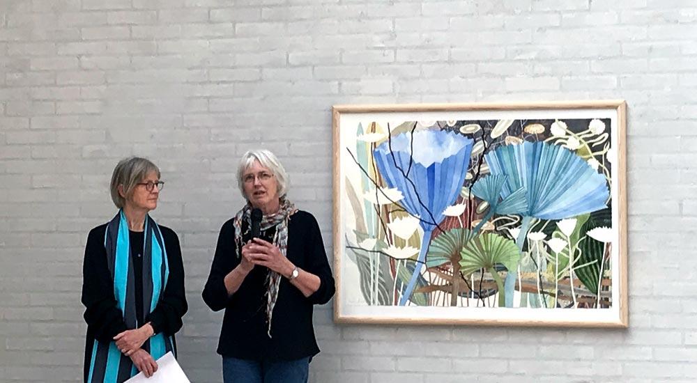 To kvinder foran maleri
