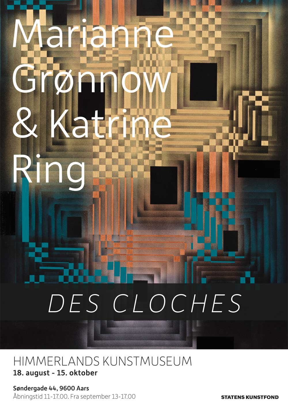 Plakat fra udstilling med Marianne Grønnow og Katrine Ring