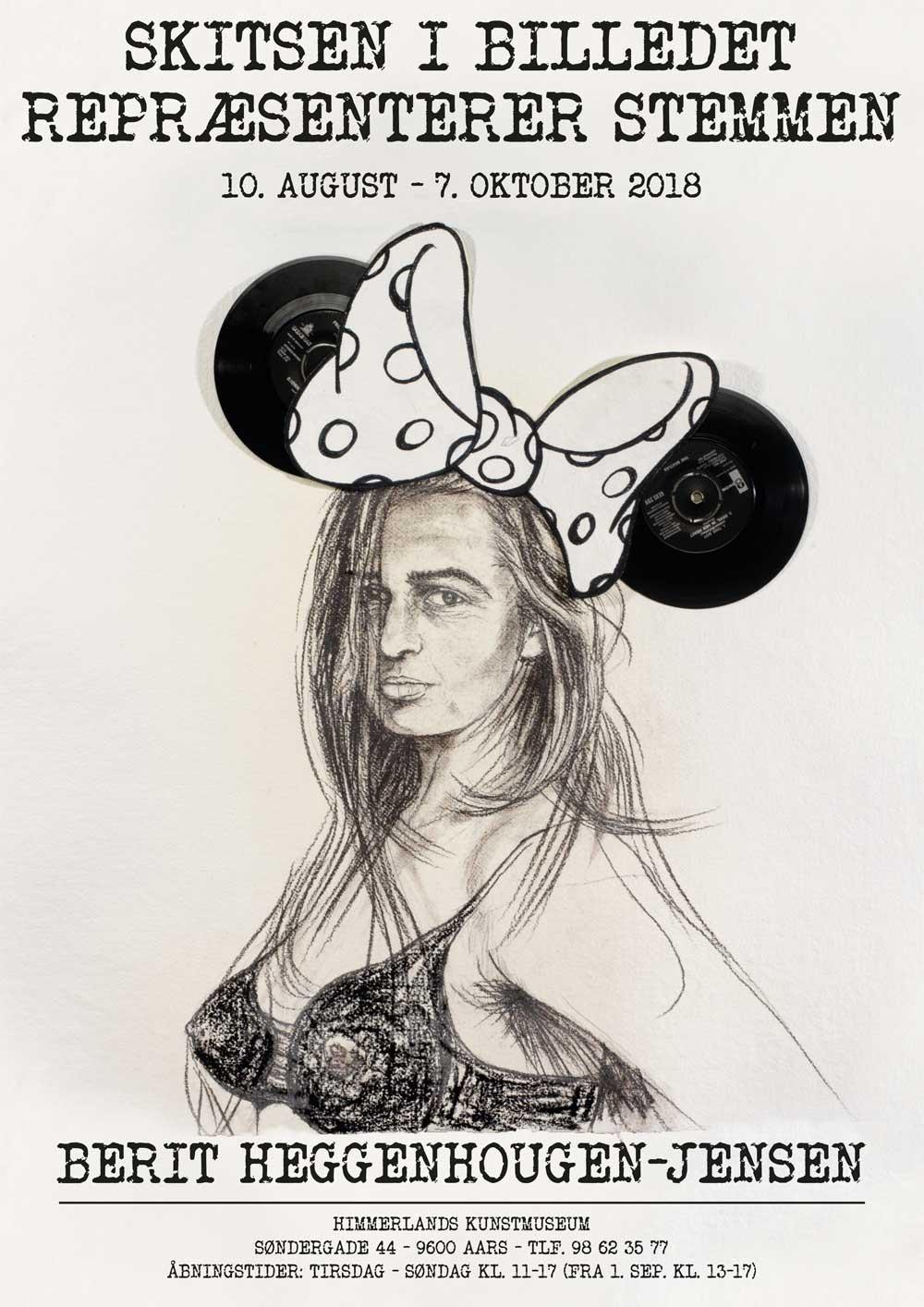 Plakat fra udstilling med Berit Heggenhouen-Jensen