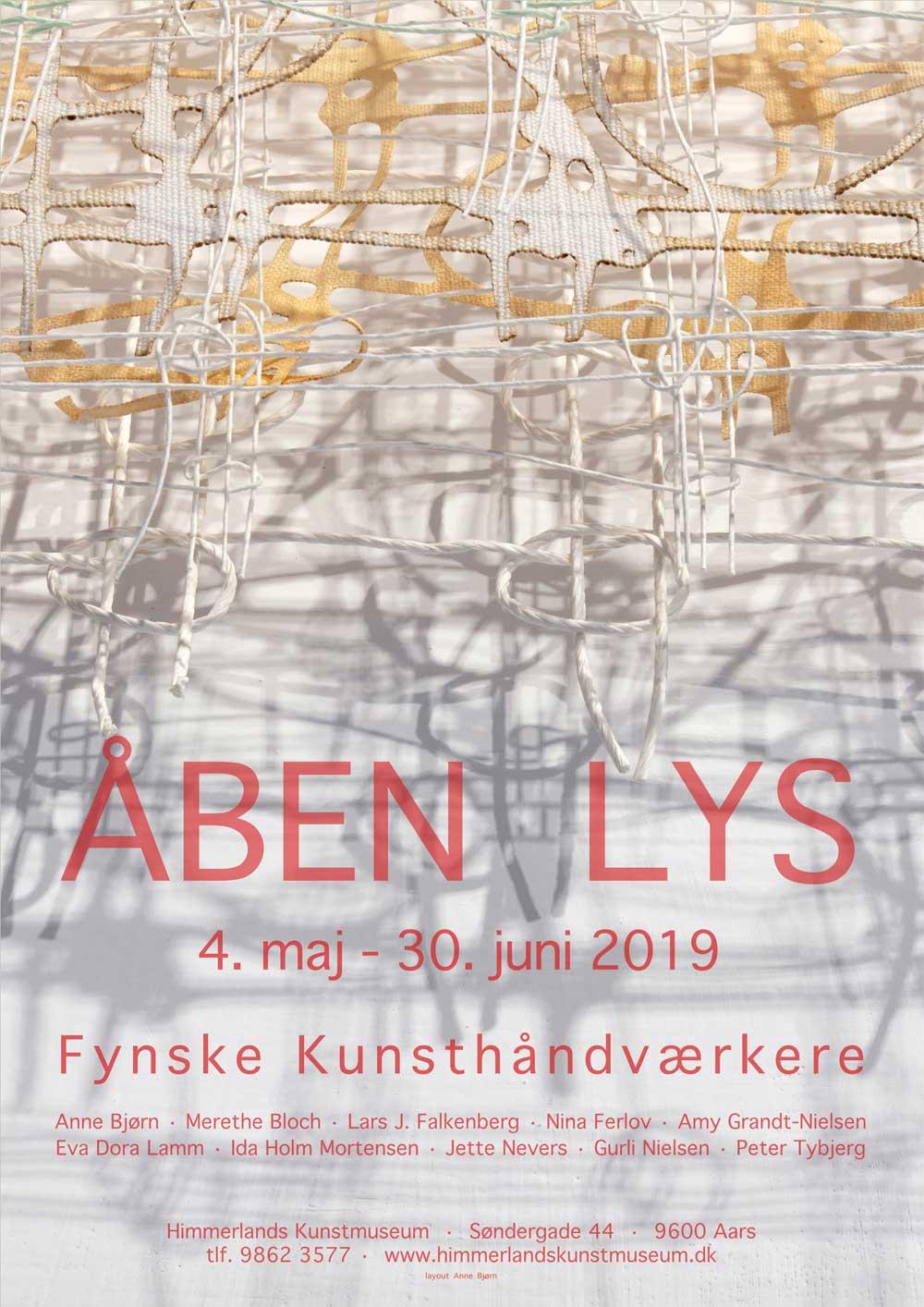 Plakat fra udstillingen Åben Lys