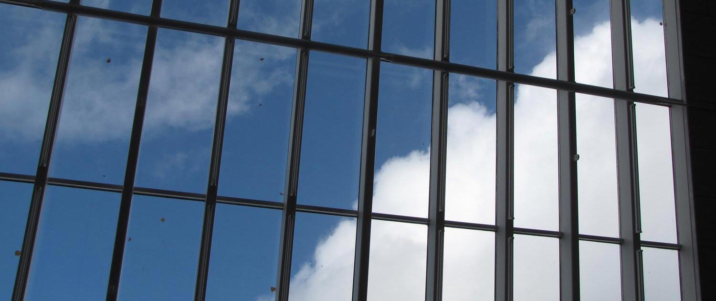 Glastaget på Himmerlands Kunstmuseum hvor Vesthimmerlands Kunstforening udstiller i oktober-november 2019